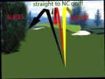 Don't hook or slice....go straightt to NC